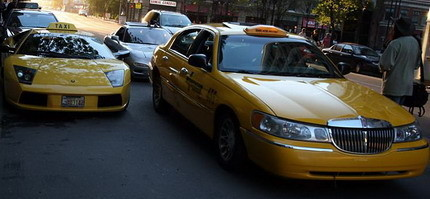 Lamborghini Murciélago... ¡Taxi!