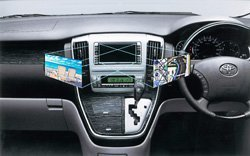 Pantalla doble de navegación de Toyota