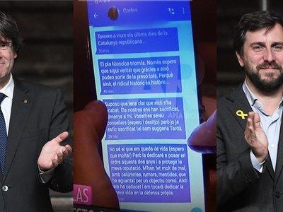 Delito vs noticia: los mensajes entre Puigdemont y su ex-conseller a debate