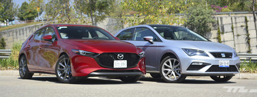 Comparativa: Mazda 3 2019 vs. SEAT León. Dos hatchbacks en una batalla de talento (+ video)