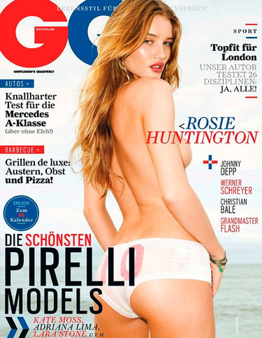 ¡Pero qué descocada Rosie Huntington-Whiteley en GQ!