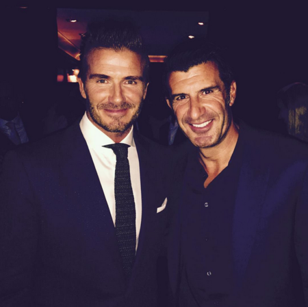 David Beckham Y Luis Figo