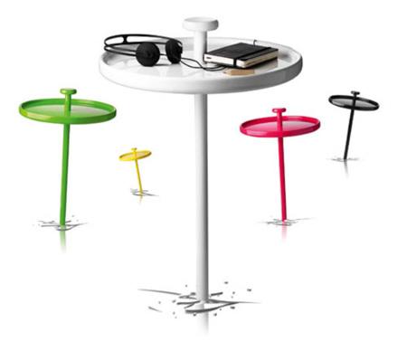 Las mesas Pin se clavan al suelo