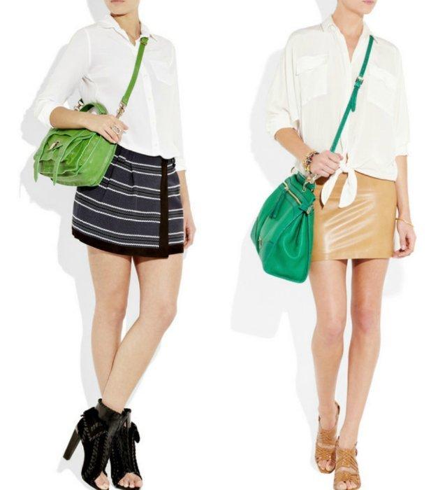 bolsos verdes net a porter