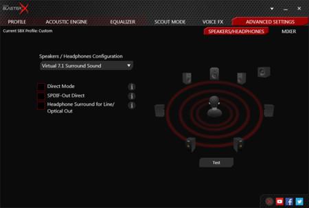 Sonido 7.1 virtualizado