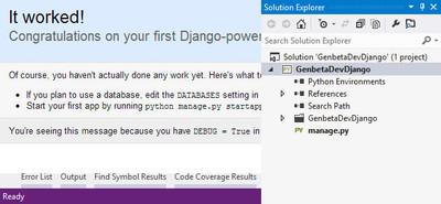Montar un entorno Django en Visual Studio 2012, en poco más de una hora