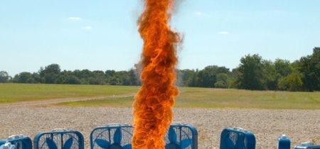 Así es un remolino de fuego (grabado en cámara superlenta)