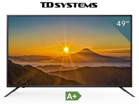 Televisor de 49 pulgadas TD Systems, con resolución 4K, por 349 euros y envío gratis