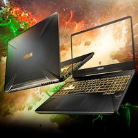 El portátil gaming ASUS TUF Gaming FX505DT-BQ208 se queda rebajadísimo si usas el cupón PEBAYDAYS al pedirlo en eBay, por sólo 729,60 euros