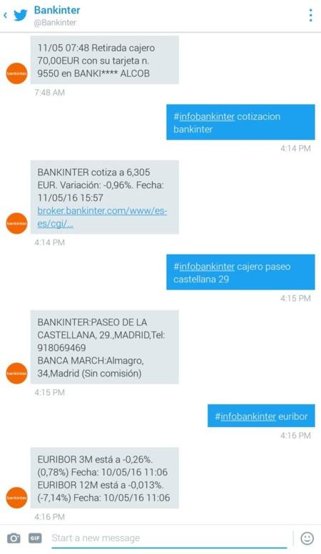 Banca vía Twitter