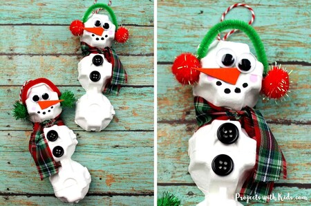 Snowman Egg Carton Feature