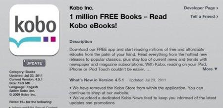 Kobo sabe jugar bien sus cartas y se salta de manera legal las imposiciones de Apple