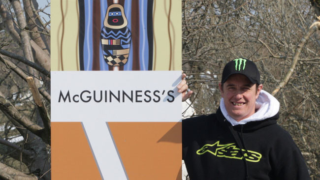 John McGuinness en su curva del Mountain Course