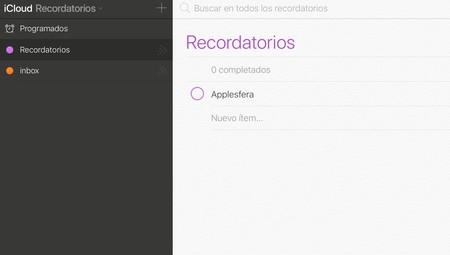 Nueva App Recordatorios iCloud