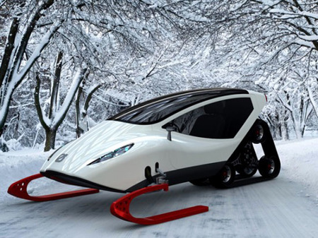 La moto para la nieve de Michael Bonikowski, para perderse del mundo con estilo