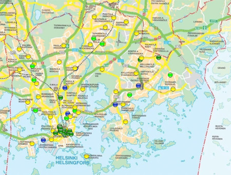 Helsinki Wifi Map