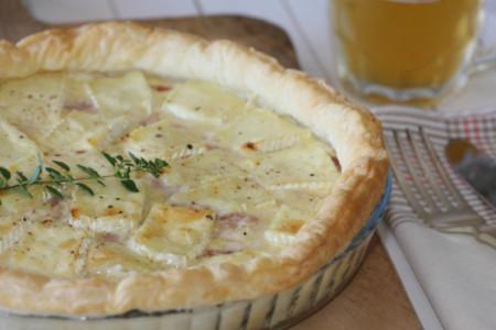 Tarta De Brie Y Puerros