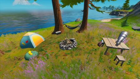 Desafío Fortnite: visita los campamentos costeros de Skye. Solución