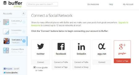 Buffer ya permite publicar contenidos en páginas de Google +