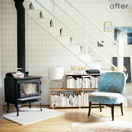 Antes y después: un salón de gris pasa a ecléctico
