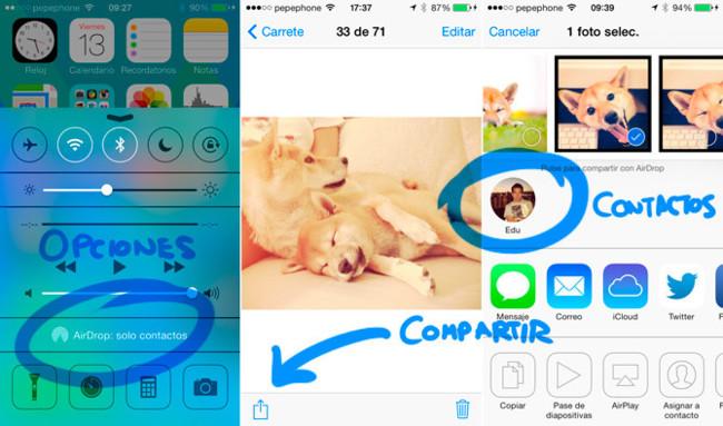 AirDrop iOS 7