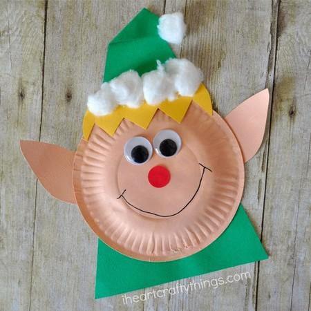 Diy Navidad 12 Elfo Plato Carton