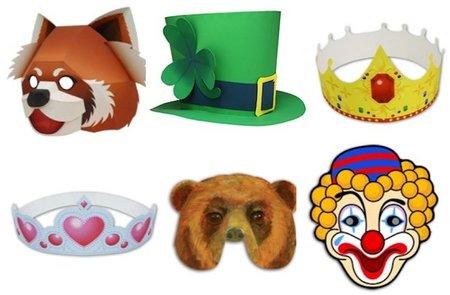 Coronas y máscaras de carnaval para imprimir