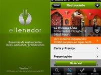 Reservar restaurante con El Tenedor para iPhone