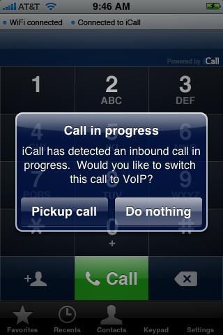 iCall, VoIP para el iPhone