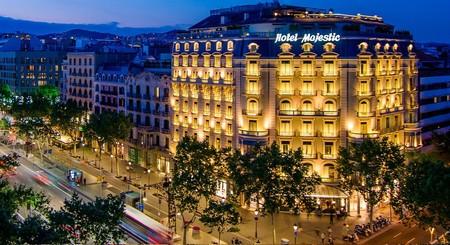 Fachada Tarde Majestic Hotel Spa Luxury Barcelona Centro