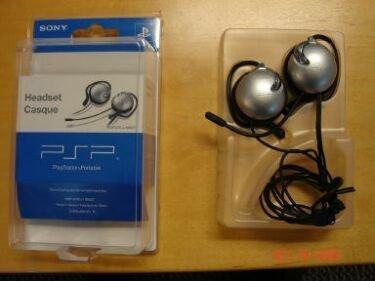 Auriculares de Sony para la PSP con micrófono