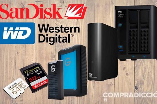18 ofertas de Amazon en almacenamiento Western Digital y SanDisk: los mejores precios de la semana en discos duros, tarjetas de memoria, pendrives y servidores