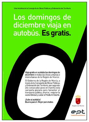 Autobús gratis en la región de Murcia