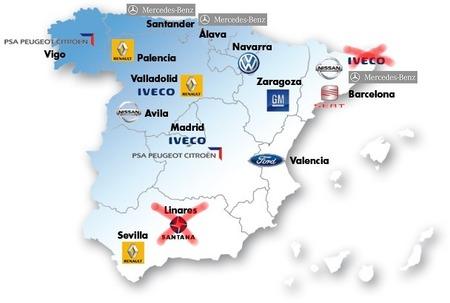 España, productor número 2 de automóviles en Europa en 2012