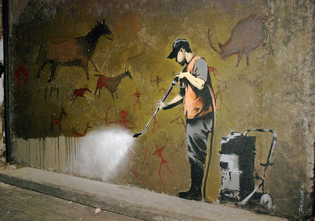 Un graffiti de Banksy.
