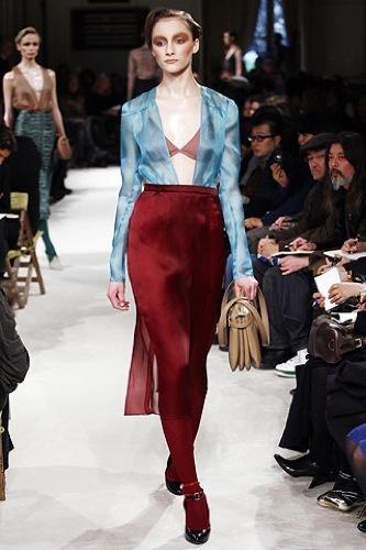 Miu Miu, Otoño-Invierno 2009/2010 en la Semana de la Moda de París, transparencias