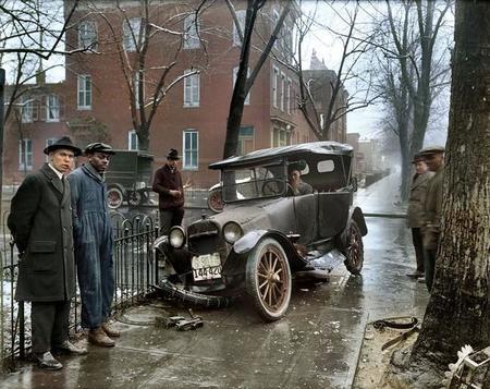 A Car Crash In Washington D C Around 1921