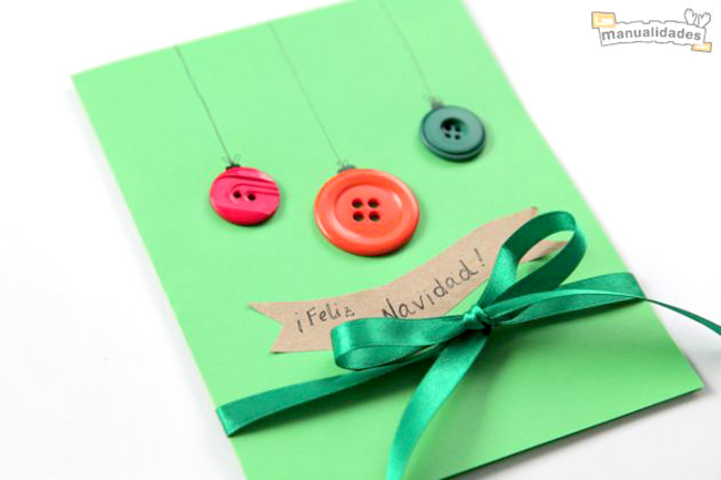 una tarjeta navidea