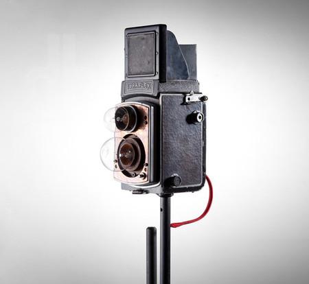 Lámparas con cámaras vintage - 2