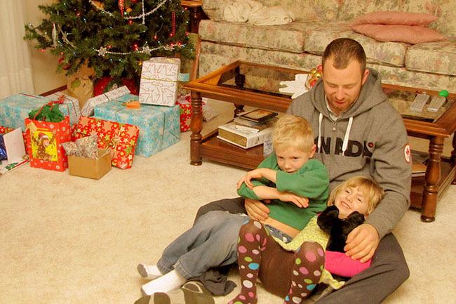 Regalos a los niños en Navidad