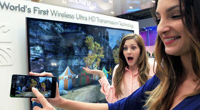 Wireless Ultra HD Transmission, la apuesta de LG para envíar vídeo 4K del teléfono al televisor