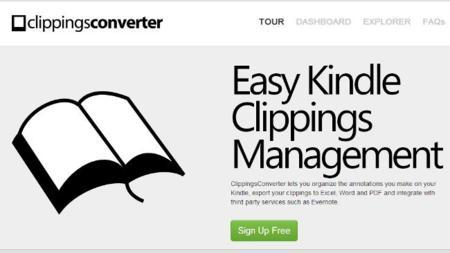 Clipping Converter, un servicio para gestionar los recortes del Kindle