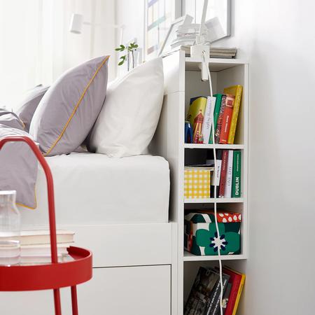 Cabecero con compartimentos Ikea