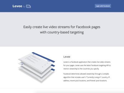 Así es Levee, la aplicación que te permite acotar geográficamente tus vídeos en Facebook Live