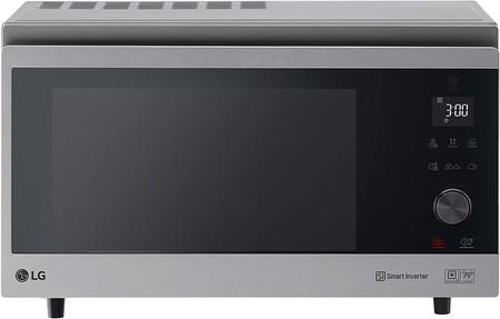 Horno Microondas Con Grill Smart LG MJ3965ACS - Horno Microondas con Grill Smart Inverter, Microondas 1100 W, Grill 950 W, Convección 1850 W, 39 litros de capacidad, Color Negro y Acero [Clase de eficiencia energética A+]