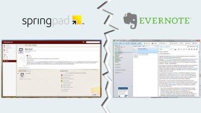 Springpad se renueva, y lo enfrentamos a Evernote