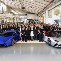 ¡Fiesta en Lamborghini! El Aventador número 7.000 se va a EE.UU. y el Huracán número 9.000 a Dubái