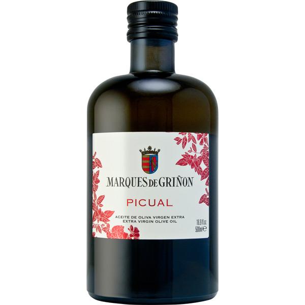 Aceite de oliva virgen extra picual Marqués de Griñón botella 500 ml