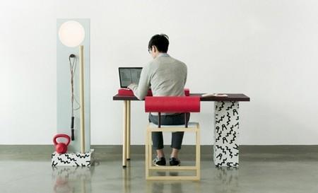 Muebles para trabajar y para hacer ejercicio en la oficina