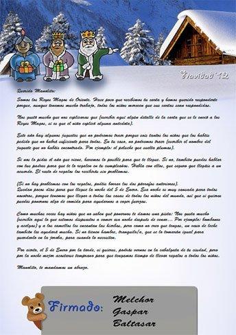 Haz tu propia carta para que los Reyes Magos respondan a tus hijos (Navidad'12)